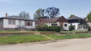 The back of a home in Moose Jaw was damaged by a fire on May 30, 2020