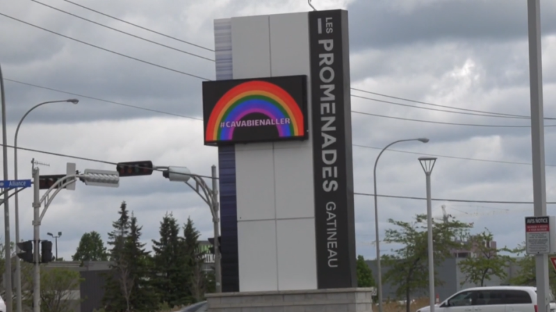 The Promenades Gatineau mall is one of many shopping malls in Quebec set to reopen June 1, 2020. (Leah Larcoque / CTV News)