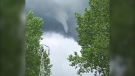 A funnel cloud was spotted in the skies east of the City of Airdrie Sunday afternoon.