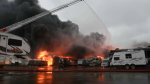 Fire broke out at McGovern RV on May 31. (Credit: William Vavrek)