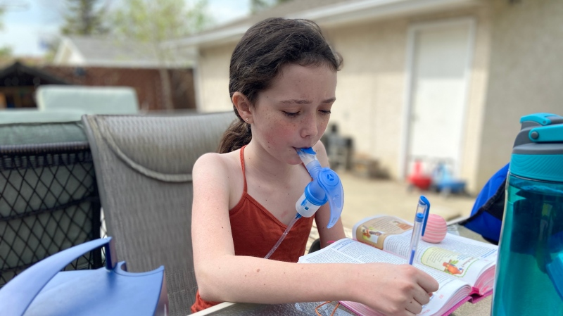 Emmanuella McDougall, 10, was born with cystic fibrosis (Supplied: McDougall family)