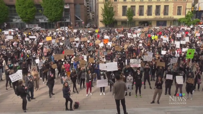 Vancouver protesters rally support