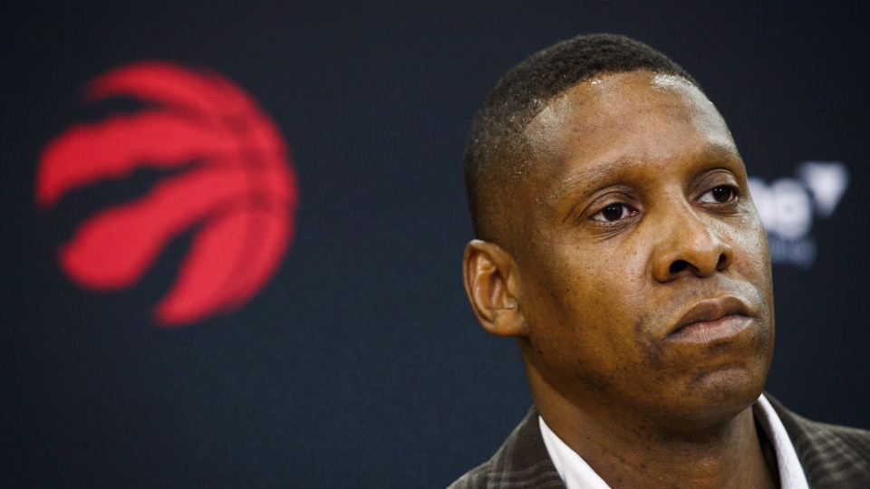 In this file photo, Toronto Raptors president Masai Ujiri speaks in Toronto, Friday, July 20, 2018. Ujiri says conversations about racism can no longer be avoided in the aftermath of the death of George Floyd in Minneapolis, and the protests around the United States that have followed.THE CANADIAN PRESS/Mark Blinch