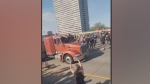 Semi truck goes through crowd in Minneapolis