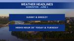 June 1 weather headlines