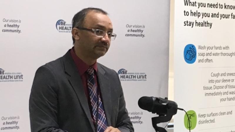 Windsor-Essex medical officer of health Dr. Wajid Ahmed in Windsor, Ont., on Monday, June 1, 2020. (Bob Bellacicco / CTV Windsor)