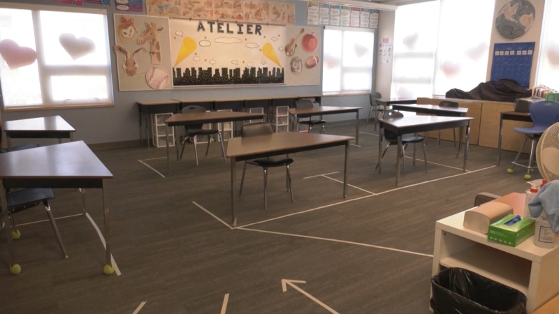 Desks will be spread out in B.C. schools as students have the option to return to class on June 1, 2020.