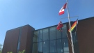 St. Jerome's Catholic University raised the Pride flag on Monday morning for the first time in its history. (Photo/Tegan Versolatto)