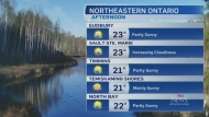 After a cool weekend, seasonal temperatures return to northeastern Ontario with a mix of sun and cloud. Watch Will Aiello's 7-day forecast. (CTV Northern Ontario)