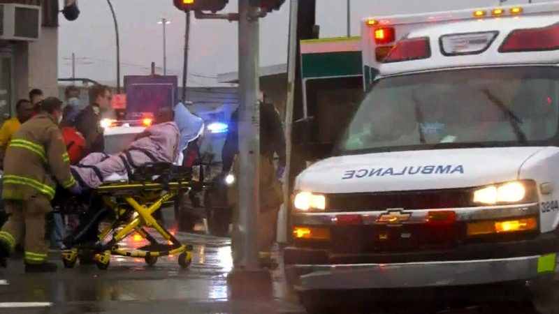 Calgary man hit by stray bullet