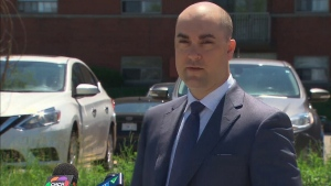 Hamilton Police Det.-Sgt. Steve Bereziuk provided an update on Monday afternoon on the fatal weekend shooting in Hamilton. (CTV News Toronto)