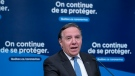 Quebec Premier Francois Legault responds to a question during a news conference in Montreal, on Monday, June 1, 2020. THE CANADIAN PRESS/Paul Chiasson