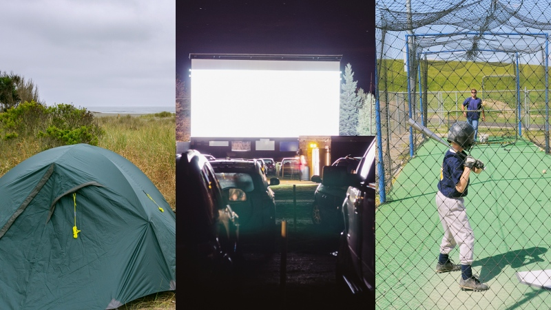 Camping, drive-in movie theatres and batting cages are part of the latest reopening phase in Ontario. (Courtesy Getty Images)