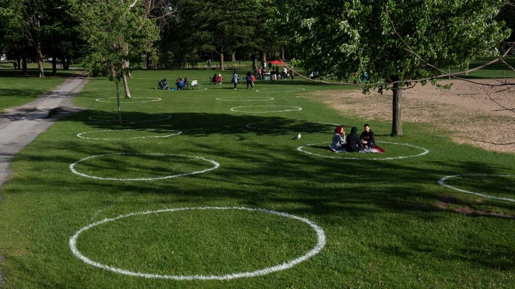 Circles at Mooney's Bay Park in Ottawa