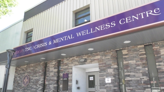 The Hotel-Dieu Grace Crisis and Mental Wellness Centre at 736-744 Ouellette Avenue in downtown Windsor on Monday, June 1, 2020. (Ricardo Veneza / CTV Windsor)