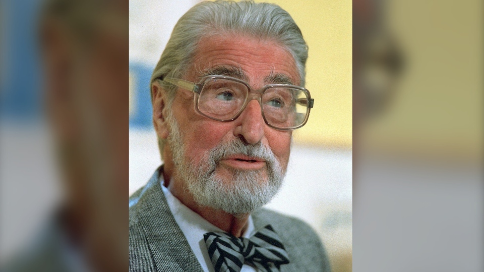 This April 3, 1987 file photo shows American author, artist and publisher Theodor Seuss Geisel, known as Dr. Seuss in Dallas, Texas. In 1971 Dr. Seuss wrote the book