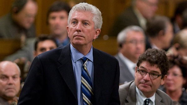 Bloc Qu�b�cois leader Gilles Duceppe stands to vote during a non-confidence vote in the House of Commons on Parliament Hill in Ottawa, Ont., Thursday, Oct. 1, 2009. (Sean Kilpatrick / THE CANADIAN PRESS)