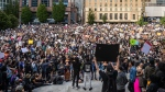 Thousands of people gather for a peaceful demonstration in support of George Floyd and Regis Korchinski-Paquet and protest against racism, injustice and police brutality in Vancouver, B.C. on May 31, 2020. THE CANADIAN PRESS/Darryl Dyck