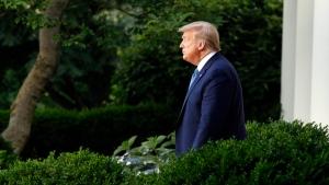 President Donald Trump arrives to speak in the Rose Garden of the White House, Monday, June 1, 2020, in Washington. (AP Photo/Patrick Semansky)