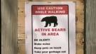 Timmins police warn of an aggressive bear