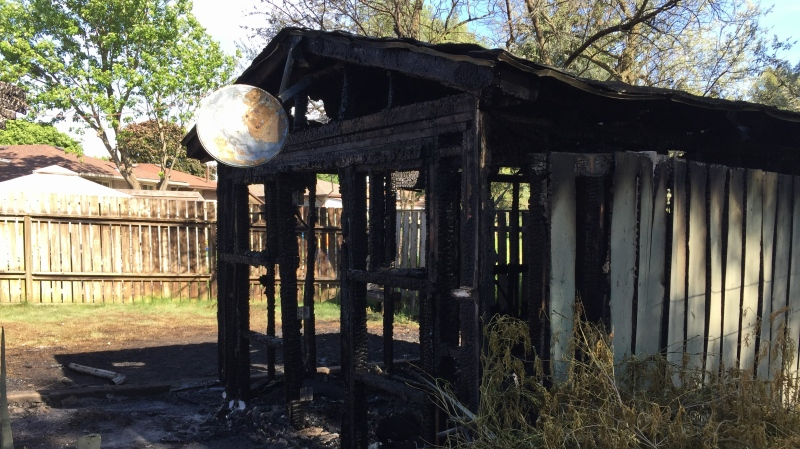 Officials believe a fire that damaged a Cambridge home started in a shed. (June 1, 2020)