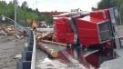 Transport rollover on Highway 144