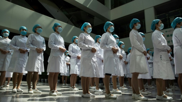 Thousands of front-line medical workers were infected with coronavirus while treating patients in China. (AFP)