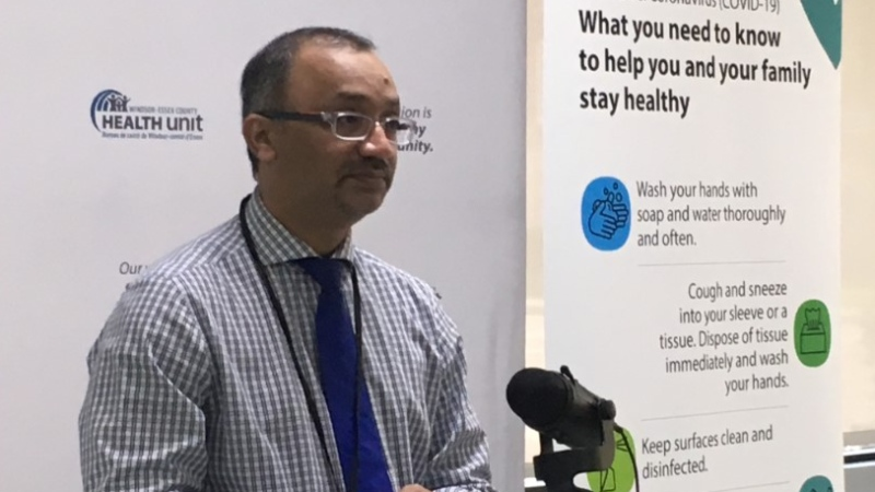 Windsor-Essex medical officer of health Dr. Wajid Ahmed in Windsor, Ont., on Tuesday, June 2, 2020. (Bob Bellacicco / CTV Windsor)