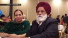 Kirpal Minhas, 67, and his wife, Davinder Minhas, 65, were killed while staying in the Punjab region of India. (Courtesy Kamal Rathore)