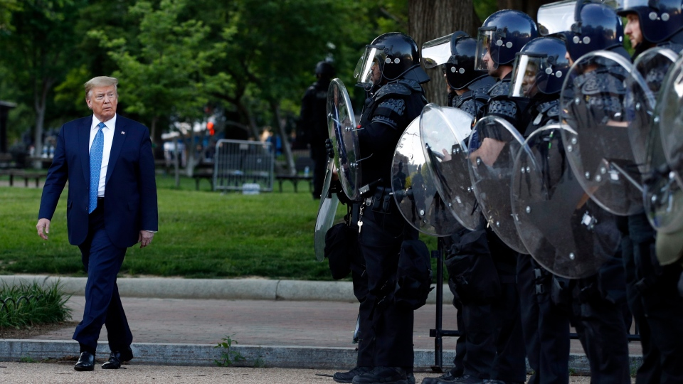 Trump and police
