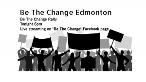 Be the Change rally info