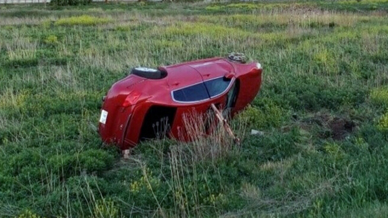 Young driver crashes new car, police say