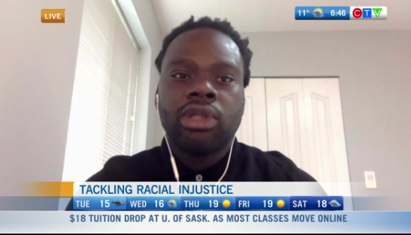 Tackling racial injustice, Solomon Elimimian