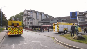 Firefighters were called to the former Comfort Inn in Victoria for reports of a fire Tuesday Morning: June 2, 2020 (CTV News)