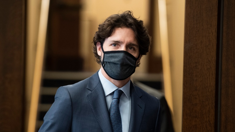 Prime Minister Justin Trudeau heads into the House of Commons at West Block on Parliament Hill in Ottawa, on Tuesday, June 2, 2020. THE CANADIAN PRESS/Justin Tang