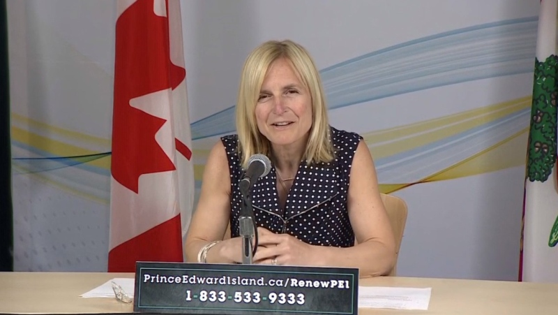 P.E.I. Chief Public Health Officer Dr. Heather Morrison provides an update on COVID-19 during a news conference on June 2, 2020.