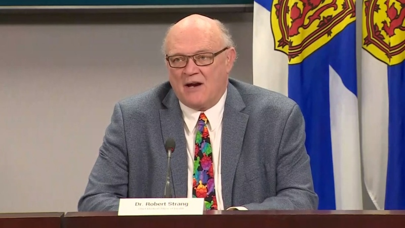 Nova Scotia's chief medical officer of health, Dr. Robert Strang, provides an update on COVID-19 during a news conference on June 2, 2020.