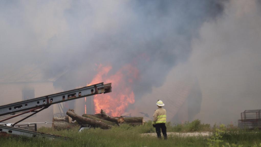 Lakeshore barn fire