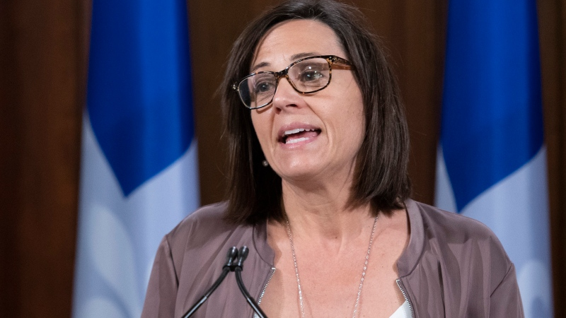 Quebec junior Education Minister and minister responsible for the status of women Isabelle Charest. (File:  THE CANADIAN PRESS/Jacques Boissinot)