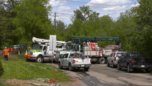 Epcor says a vehicle incident left thousands of customers without power in central Edmonton on Tuesday, June 2, 2020. (Chris Brinkworth/CTV News Edmonton)