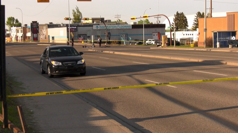 Police investigate a crash that claimed the life of Calgary cyclist Cory Meza.