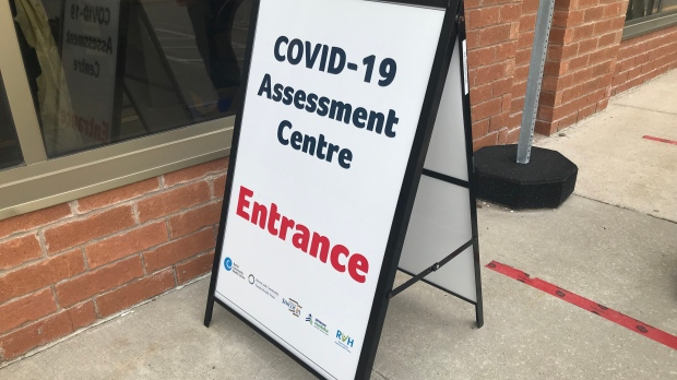 Barrie assessment centre on Huronia Road. (Aileen Doyle/CTV News)