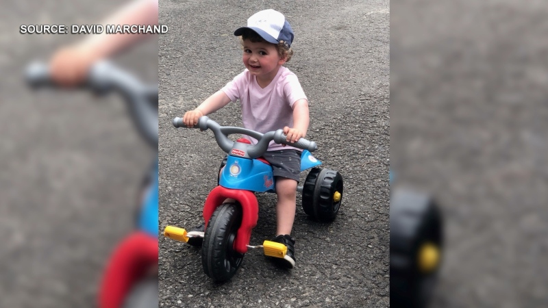 Kristen Martin, a nurse, and her husband David Marchand say they are struggling to find a day care provider for their two-year-old son, Grayson, after some parents expressed fear about possible transmission of COVID-19. (Photo courtesy of David Marchand)