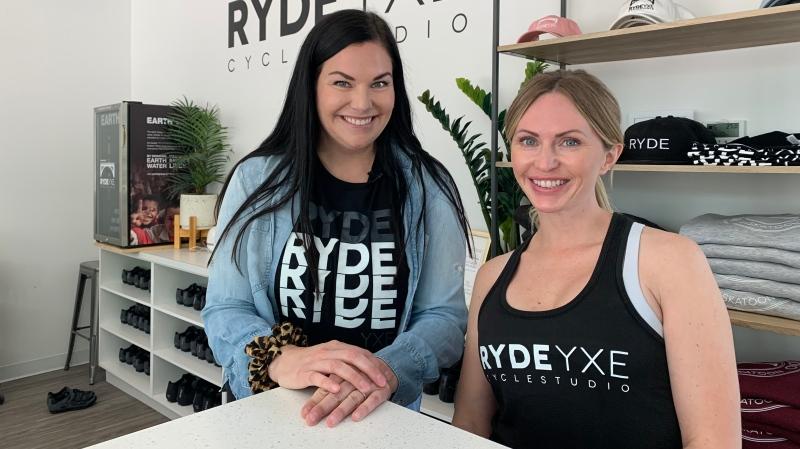 Ryde YXE co-owners Shaina Lynden and Bradie Mustoe. (Carla Shynkaruk/CTV Saskatoon)