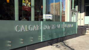 The Calgary Board of Education will require all of its students — not just those in Grades 4 and up — to wear face masks during the 2020-2021 school year (file)