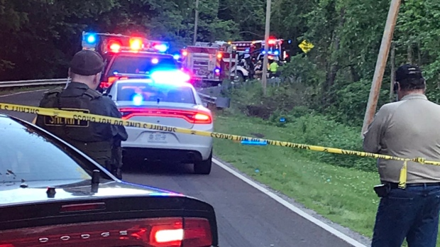 Two young children died in a car accident Friday evening after they took keys to the family vehicle and began driving it. (@sheriffforte/Twitter)