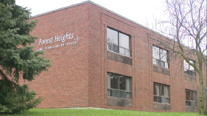 The Forest Heights long-term care home in Kitchener. (June 1, 2020)
