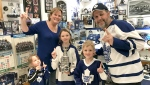 Retired city worker Nello Ronchin isn't just your ordinary Toronto Maple Leafs fan; he bleeds the 'blue and white' and has got the collection to back it up. (Ian Campbell/CTV News)