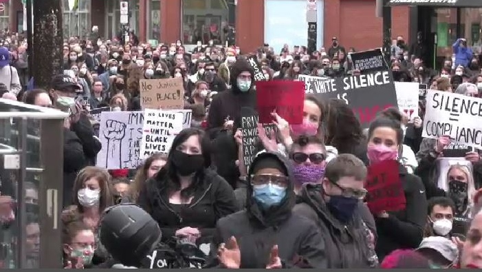 """I was pleased to see most of you in masks, it would have been better if we were able to self-distance yourself, but you were respectful of one another, you were peaceful and you made your point very clear,"" said Nova Scotia Premier Stephen McNeil. ""You are fed up."""