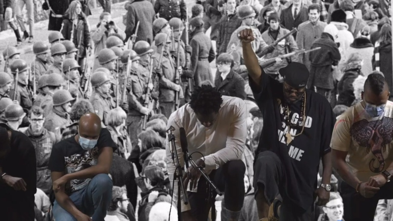 The Be the Change virtual rally began remembering George Floyd, the black man who died in police custody in Minneapolis last week. June 2, 2020. (Jesse Lipscombe/Facebook)